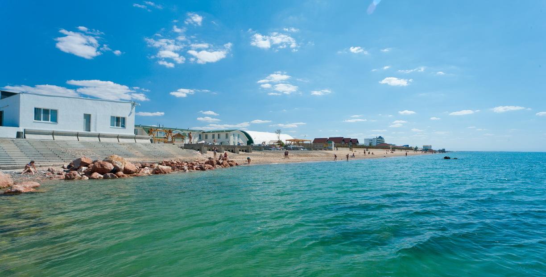 Пляж санатория Полтава Крым